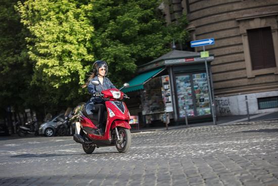Per le sue caratteristiche, questo scooter è molto adatto al pubblico femminile