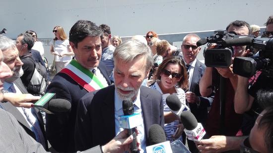 Il Ministro di Infrastrutture e Trasporti, Graziano Delrio, presente di persona all'inaugurazione del nuovo passante fiorentino