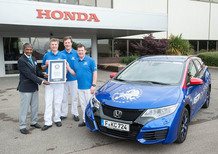 Honda Civic Tourer entra nel Guinnes World Record