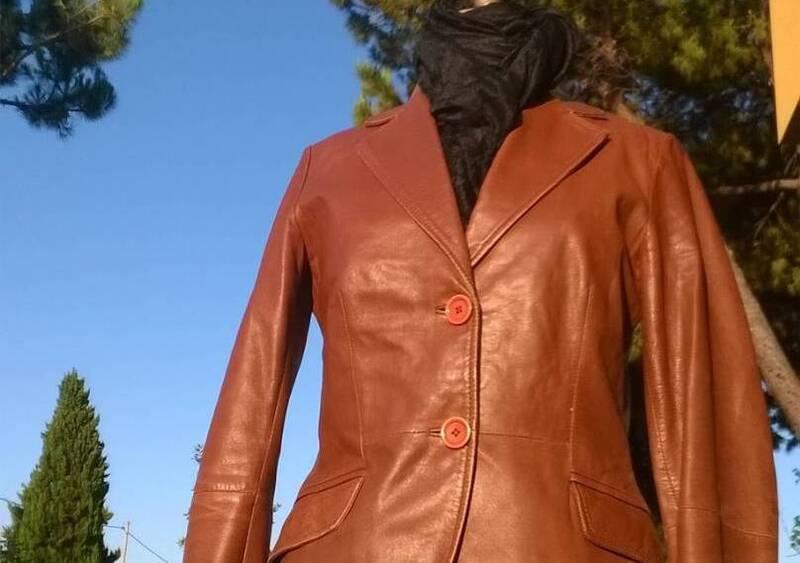 Vendo Giacca Zara Pelle Marone Zara a Rimini (codice 6835575