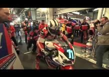 Il tramonto al Bol d'Or con il team Honda TT Legends