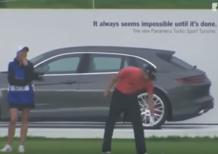Porsche Panamera vinta con un colpo a golf [Video]