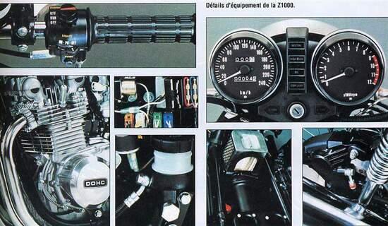 Kawasaki Z1000, i particolari in una foto dell'epoca