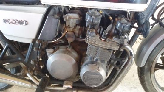 Il motore prima del restauro