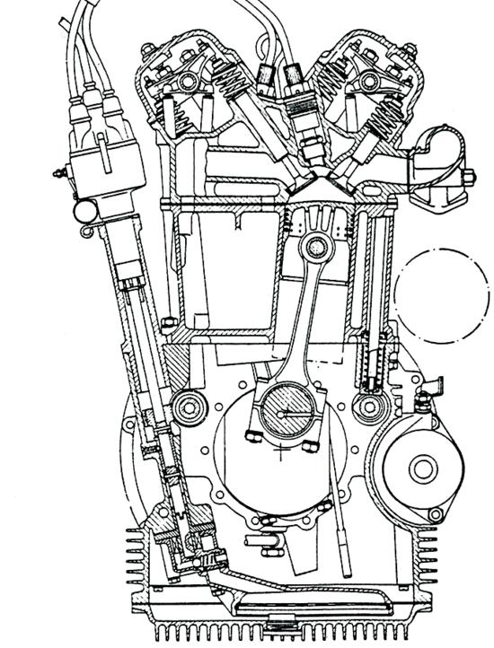 Per decenni la Lancia ha costruito ottimi motori a V stretto (qui è mostrato in sezione quello della Appia). È stata l'unica casa al mondo ad adottare questa architettura, fino alla comparsa, molto tempo dopo, dei Volkswagen della serie VR