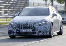 Mercedes A45 AMG nuovo foto spia della prossima serie