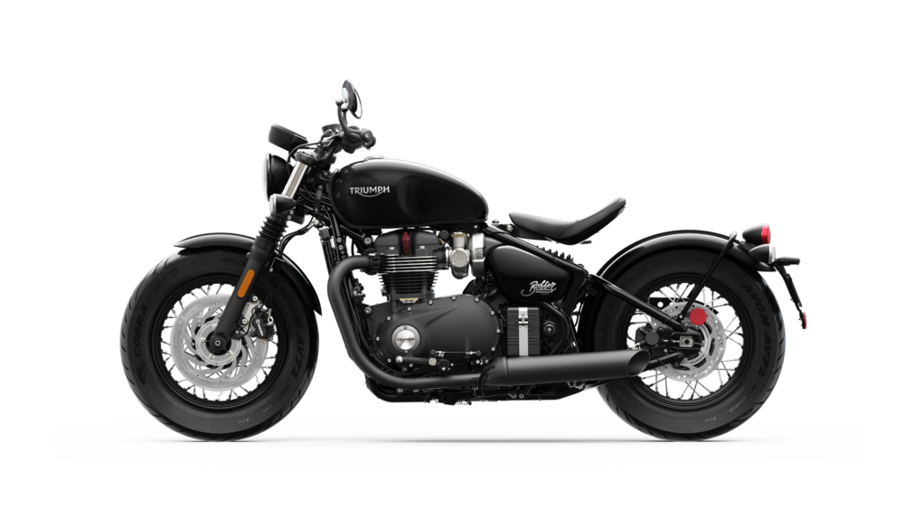 La Triumph Bonneville Bobber Black in versione Jet Black