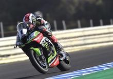 SBK 2017. Rea cade, ma chiude al comando le FP2 di Jerez