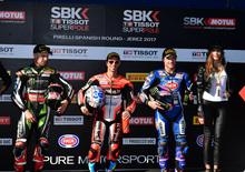 SBK 2017. Melandri si aggiudica la Superpole a Jerez
