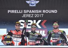 SBK 2017. Jonathan Rea vince Gara-1 a Jerez
