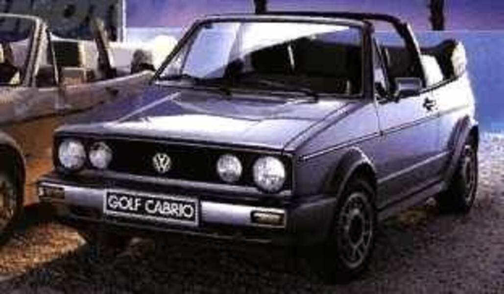 Volkswagen Golf Cabrio 1600 Quartett