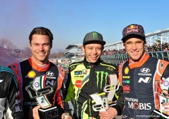 Il re del rally-show italiano tra le due star del Mondiale Rally ospiti quest'anno a Monza