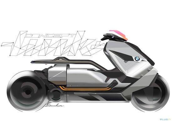 Il BMW Concept Link presentato quest'anno a Villa d'Este. Parlando di design, Edgar Heinrich ha citato le novità di questo scooter elettrico