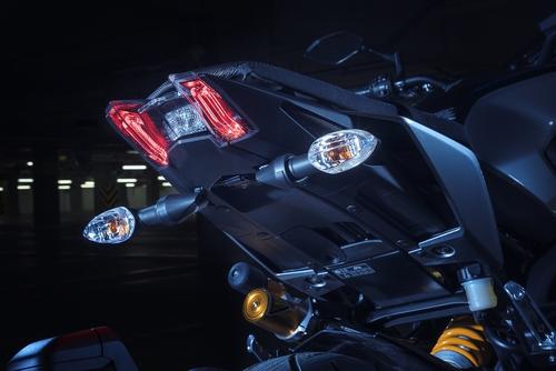 Il codino, più leggero con l'eliminazione del portatarga, con faro full-LED