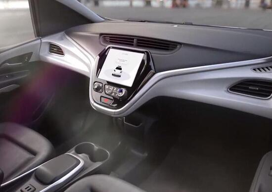 GM Cruise AV, nel 2019 l'autonoma senza pedali e volante