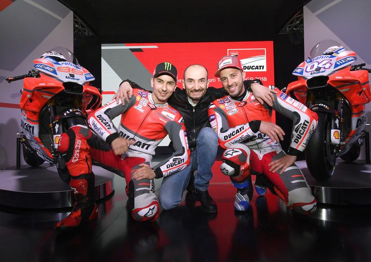 MotoGP. Presentazione team Ducati 2018. Domenicali punta su Dovizioso