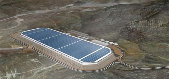 LA Gigafactory Tesla, si trova presso Electric Avenue a Sparks, NV