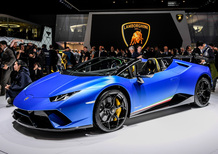 Lamborghini Huracan Performante Spyder al Salone di Ginevra 2018 [Video]