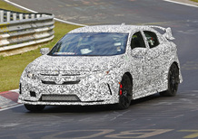 Nuova Honda Civic Type R: la sedan è già al Ring