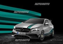 Mercedes Classe A 45 AMG World Champion Edition, l'iridata