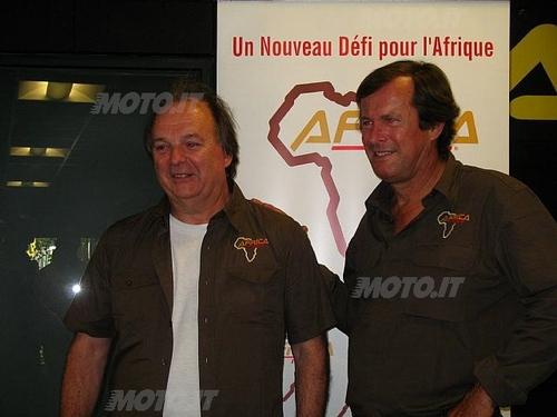 Franco Acerbis con Hubert Auriol