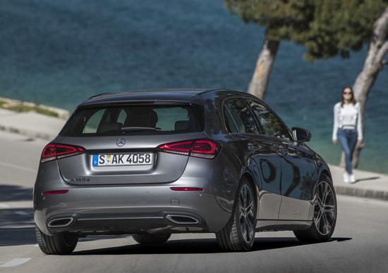 Il posteriore della nuova Mercedes Classe A