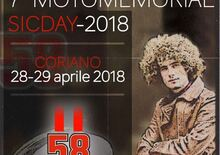 7° Motomemorial Sic Day 2018 sabato 28 e domenica 29 aprile