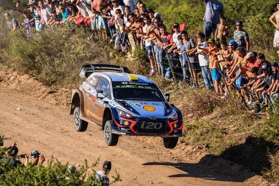 Mikkelsen durante la PS9 del WRC Argentina 2018