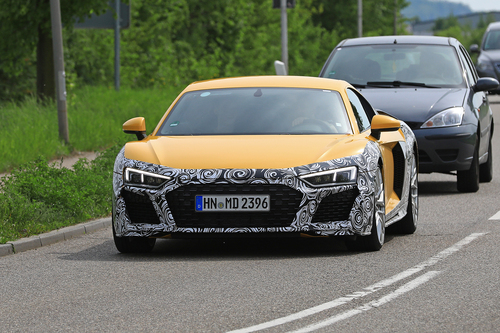 Audi R8 restyling, le foto spia (8)