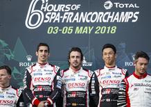 WEC 2018 Spa, Come da pronostico: Alonso primo con doppietta Toyota alla 6 ore