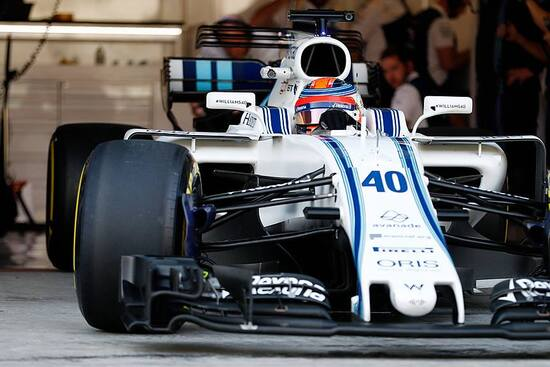 Robert Kubica sulla Williams FW41