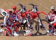 Il logo NILS sulle moto dell'MX Honda Racing Martin