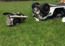 Porsche 911 GT3 RS, mega crash sull'isola di Man [Foto]