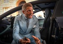 Lapo Elkann e la Ferrari GTC4 Azzurra al Parco Valentino [video]