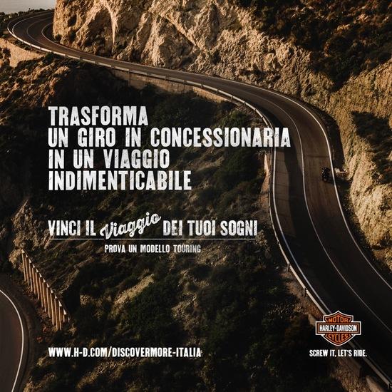 Discover More. Il concorso Harley-Davidson che ti manda in viaggio