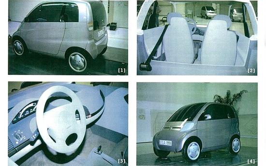 Uno dei primi prototipi della smart risalente al 1992
