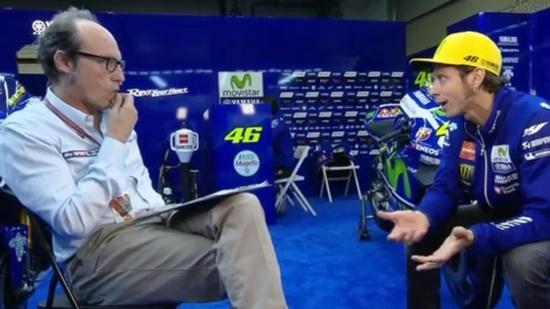 Meda in una delle interviste esclusive di Valentino Rossi