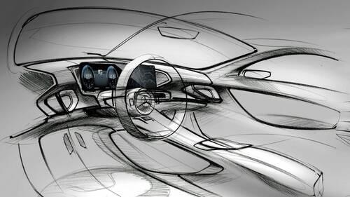 Nuova Mercedes GLE, i bozzetti degli interni