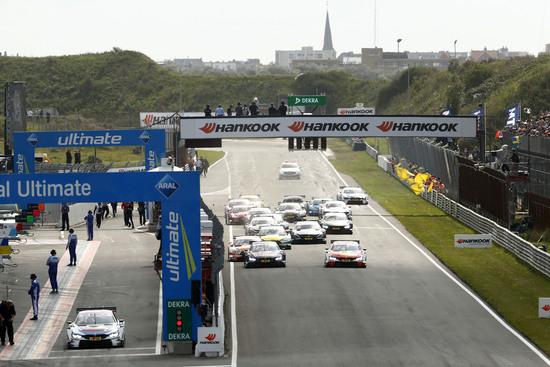 Azione in pista nel 2017 a Zandvoort