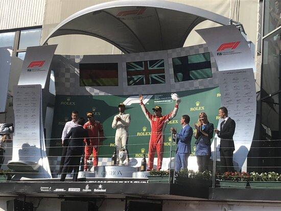 Il podio del GP