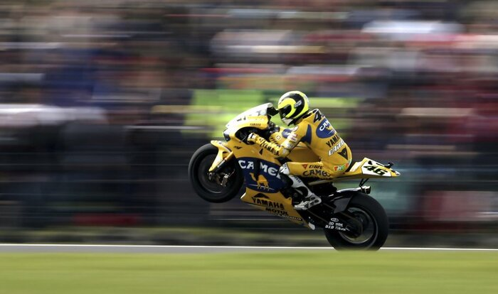 Rossi sulla Yamaha-Camel 2006