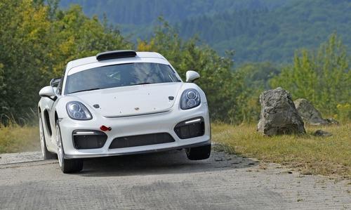 Porsche Cayman GT4 Clubsport Rally Concept, Cayman da rally (8)