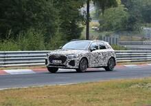 Audi RS Q3, nuove foto al Ring: avrà il motore da 400 CV della RS3?