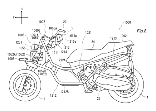 L'Airbag per scooter e i brevetti Yamaha (3)