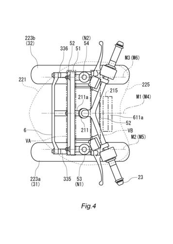 L'Airbag per scooter e i brevetti Yamaha (6)