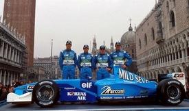 Presentazione del team in piazza San Marco a Venezia