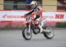 Ivan Lazzarini (Honda) si aggiudica la seconda prova degli Internazionali d'Italia Supermoto