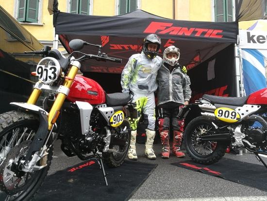 Da sinistra Perfetti e Brissoni, pronti per la sfida con le Fantic 250
