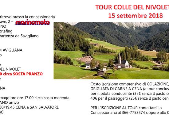 Tour colle del Nivolet: 15/9 con Marino Moto