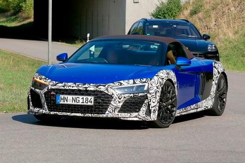 Audi R8 Spyder restyling, le foto spia